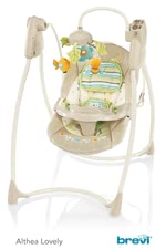 Brevi Baby Swing Althea -  * Brevi's baby swing Althea will help you master the challenging and stressful everyday life with a baby. This super cosy and comfortable baby swing embraces your child, supplies him with entertainment and lets him sleep peacefully right from the very first day.
