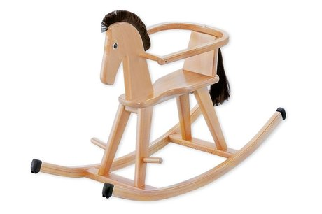 "Geuther 木马 Halla -  * Riding a rocking horse is fun and fosters the sense of balance in children at the age of 9 months and up. The sturdy wooden rocking horse ""Halla"" contributes to the most exciting and fun riding sessions."