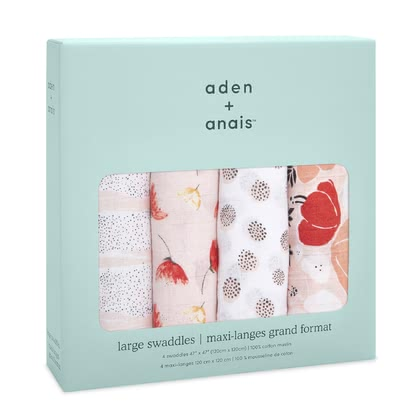 Aden+anais 經典款嬰兒繈褓巾 Classic Swaddle,四入 - The great versatile swaddles from aden+anais will soon become an important accessory in your everyday live with your little one.