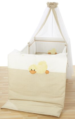 Alvi Cot set with embroidery Sleeping Duck 2014 - 大圖像