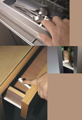 reer safety latch for drawers and cabinet doors 2014 - 大圖像