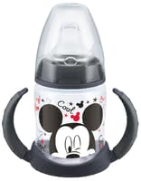 NUK FIRST CHOICE 迪士尼米奇學飲瓶,150毫升 -  * The NUK FIRST CHOICE learner bottle Disney Mickey supports your little one in the transition from being breastfed or bottle-fed to drinking unaided.