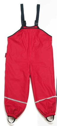 Playshoes rain dungarees with fleece lining - 大圖像