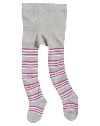 Playshoes tights with comfort waistband, patterned Streifen_ pink 2014 - 大圖像