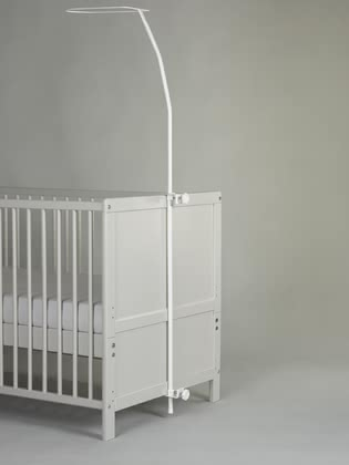 Alvi兒童床蚊帳支架 -  * ✓ securely attaches the canopy to the cot ✓ easy installation ✓ varnished in white ✓ for all canopies with drawstring