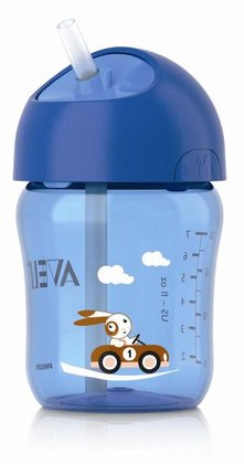 AVENT 帶吸管水杯,260毫升 -  * By using the Avent straw cup your little one will learn to drink independently in a playful way.