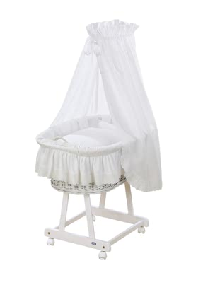 "Alvi嬰兒睡籃 Jola 6件套Teddy Romantik款式 -  * The bassinet ""Jola"" by Alvi is suitable for every nursery and interior style, and adds a particularly romantic and cosy touch to your baby's very first bed."