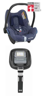 Maxi-Cosi 婴儿提篮 Cabriofix,带 FamilyFix 底座 - The classic baby car seat is functional and secure.