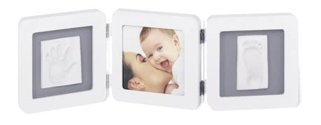 "Baby Art ""Double Print Frame"" 手腳印框 - * The three-piece set can be equipped with hand and footprint, and a picture of your sunshine and becomes a real eye-catcher"