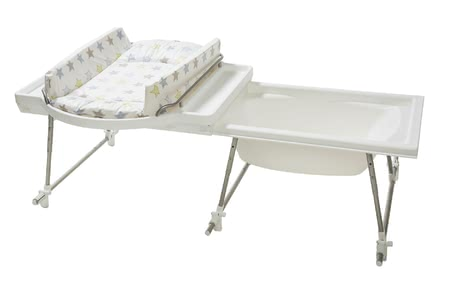 Geuther 浴室換尿布組合 Aqualino -  * The Geuther Aqualino provides plenty of space for bathing your baby and changing their nappies. It is stable, easy to care for and can be installed in no time at all.