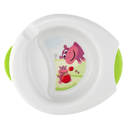 Chicco 二合一保溫盤 -  * The Chicco warming plate keeps baby's meal longer warm.