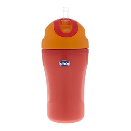 Chicco 帶吸管保溫杯 - The Chicco insulated drinking bottle with drinking straw is non-spill and ideal suitable on the go