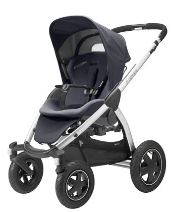 Maxi-Cosi Mura 4 stroller + Maxi-Cosi Dreami carrycot attachment Total Black 2015 - 大圖像