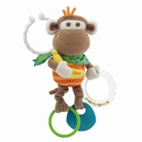 "Chicco 猴子造型振動搖鈴 -  * Fun and games in the stroller and home guarantees the cute ""vibrant monkey rattle"" by Chicco."
