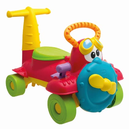 Chicco 多功能玩具飛機學步車 Charly Rutscher Flugzeug -  * With the beautifully designed and colorful Charly Ride-on airplane by Chicco your favorite can fly through his nursery and nature.