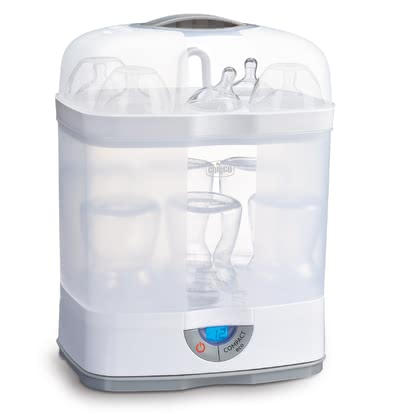 Chicco 奶瓶消毒器»Steril Natural 3-in-1« -  * ✓ Modular system ✓ hot steam sterilisation without chemicals ✓ removes 99.9% of all germs ✓ Compact eco button: saves up to 25% time and energy
