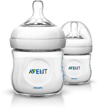 AVENT 安撫奶瓶,兩入 -  * Based on the model of nature! This trendy baby bottle features an ergonomic shape which makes it super easy for you to hold it. Even your little one can grasp the bottle easily irrespective of its direction.