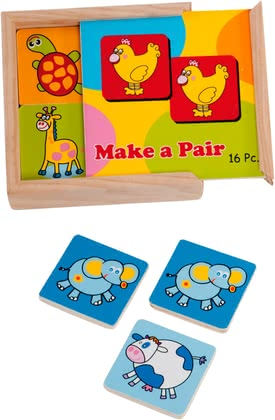 Children's wooden memory game -  * The Kids Memory trains the memory and provides lots of fun