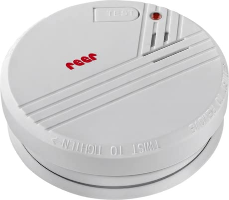 Reer煙霧報警器 -  * Smoke and fire often surprise people in sleep without them noticing anything. Equipped with the latest photoelectric technology, the Reer smoke detector alerts you reliably with a very loud signal (85 db) even when there is only the slightest smoke emission.