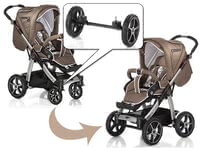 Hartan 兒童推車 Sky / Sky XL 專用備用車軸 -  * Hartan's Quad-System features an additional pair of air chamber wheels with cross rim that transforms your flexible pushchair into an off-road pram.