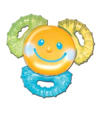 Vibrating cooler teether -  * The vibrating cool teether helps your treasure during teething