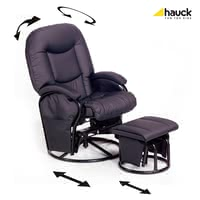 Hauck 哺乳休閒椅 Metal-Glider Recline - The modern breastfeeding and relaxation chair made ​​by Hauck is super comfortable and not only during lactation a peaceful retreat.