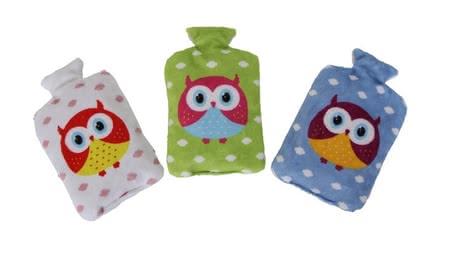 "Cherry-stone pillow ""Owl"" -  * The cherry-stone pillow is perfect for the pocket or the foot muff and provides cozy warmth"