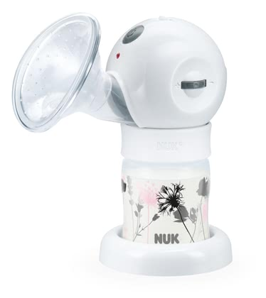 NUK 舒適電動擠乳器 Luna -  * Efficient: 2-phase pumping rhythm with continuous variable suction strength regulation * Individual: Duration of suction phases manually selectable * Pleasant: super soft silicone cushion