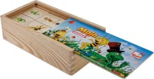 "Maja the Bee Domino wood - "" * With the wooden Maja the Bee Domino he memory of your treasure is required and lots of fun provided """