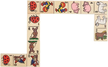 Goki 動物骨牌 -  * By the Goki Domino animal motifs is provided fun for the whole family