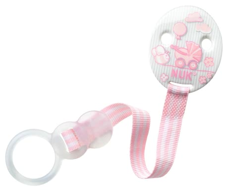 NUK 安撫奶嘴鏈,嬰兒粉 - With the NUK Baby Rose pacifier ribbon DUO allows you to attach the pacifier of your little princess easy and secure.