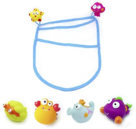 帶網沐浴玩具 -  * The cute bathing animals provide plenty of swimming fun and are supplied in a practical storage net