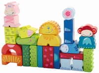 Haba 彩色動物積木 -  * The funny animal building blocks will liven up any nursery and inspire the creativity of every little builder from one year onwards.