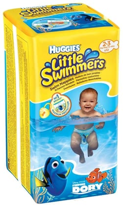 Huggies 游泳尿片,尺寸2/3 -  * Babies love swimming and splashing in the water. Being equipped with Huggies swim nappies you and your little swimmer can enjoy the time in the water.