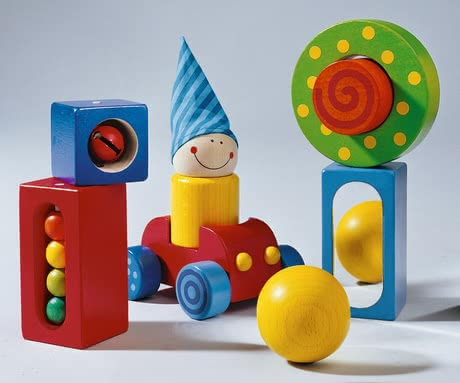 "Haba 積木玩具組 -  * Send your little one on an exciting adventure by getting him or her this fabulous set ""My First Building Blocks"" by Haba."