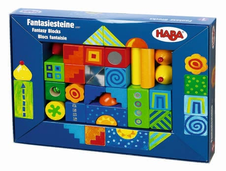 Haba 幻想積木組 -  * Building small houses, a high tower or a whole little colourful town. The beautiful resilient wooden building blocks by Haba tickle your little one's fancy and stimulate his or her imagination. They are suitable for children from 1,5 years on.