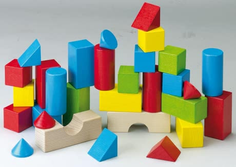 Haba 彩色積木 -  * By using his or her fantasy and practicing a little patience, your child will build high towers, great columns, houses and bridges with these amazing colourful building blocks by Haba.