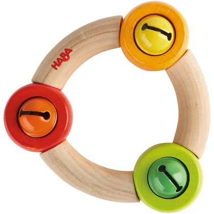 "Haba 铃铛手摇铃 -  * ""Ringlet"" comes with three little bells. Your child will love the sound this toy makes as soon as he or she touches it."