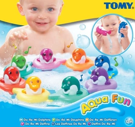 Tomy 歌唱海豚 -  * The scale goes up and down with the musical notes DoReMi... Simply tap the dolphin's head and listen eagerly which musical note is played. Each of the coloured dolphins plays another musical note.