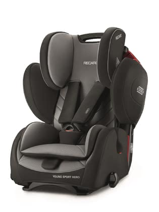 Recaro Young Sport Hero 兒童汽車安全座椅 Carbon Black 2019 - 大圖像