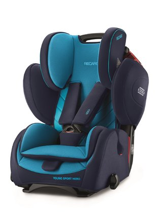 Recaro Young Sport Hero 兒童汽車安全座椅 Core Xenon Blue 2020 - 大圖像