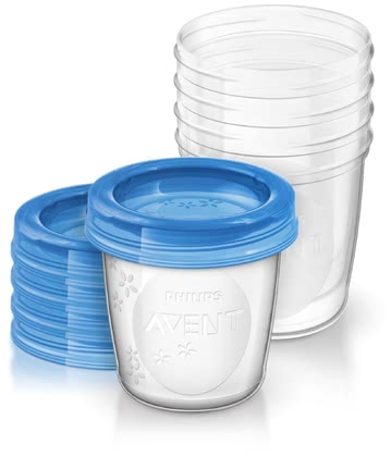 AVENT 母乳儲存杯 -  * Express, store and feed your breast milk efficiently with the Avent breast milk storage cups. The set includes 5 pre-sterilized re-usable cups with 5 leak-proof lids.