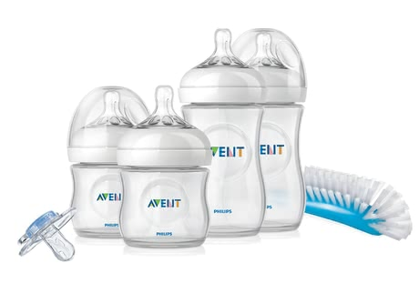 AVENT 安撫奶瓶套組 -  * This great starter set contains everything you as new parents need for providing your little one with optimum care – from baby bottles in different sizes, to teats, to soother. That way, combining breastfeeding with bottle-feeding will be successful right from the start.