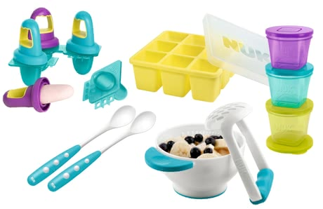 NUK Fresh Foods 輔食搗泥器 - * NUK fresh foods set – This set is ideal for preparing, portioning and storaging self-cooked meals of fruits and vegetables.