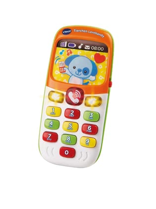 "VTech偉易達 小動物學習手機 -  * With VTech's adorable learning smartphone ""Animals"" will bring ultimate fun into your little one's nursery. The colourful smartphone rings, utters short sentences and asks questions – thus your child's language development will be promoted in a playful way."