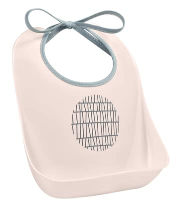Béaba 防掉屑圍兜兜 -  * The Béaba Training Bib protects the clothes from making to much of a mess and comes with a crumb catcher.