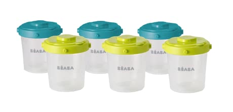 Béaba 扣蓋食物儲存容器 200 毫升,六件裝 -  * Thanks to Beaba Clip Portions Set can you easily store your meals.