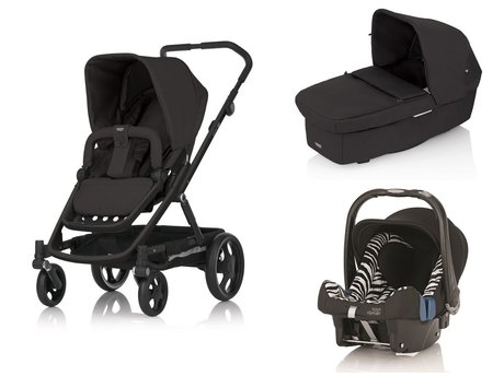 Britax Go Stroller incl. Carrycot and Römer Infant carrier Safe Plus SHR II Black Thunder 2015 - 大圖像