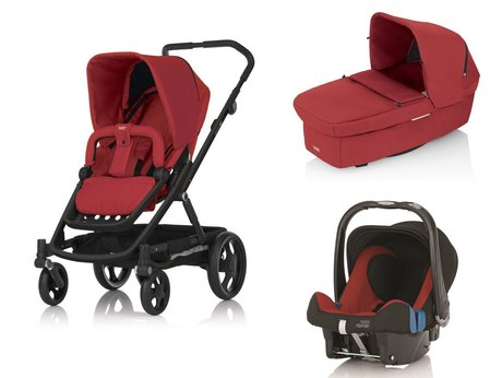 Britax Go Stroller incl. Carrycot and Römer Infant carrier Safe Plus SHR II Chili Pepper 2015 - 大圖像