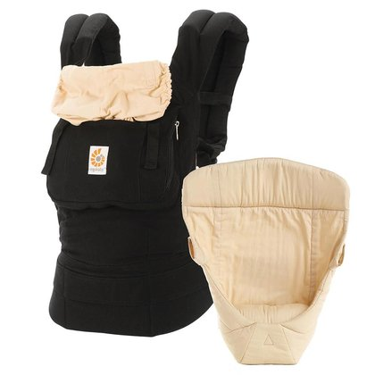 "Ergobaby 原創復古版新生兒 / 嬰兒背帶組 - * The Ergobaby original ""from birth on"" package enables you to carry your child ergonomically in three different positions."